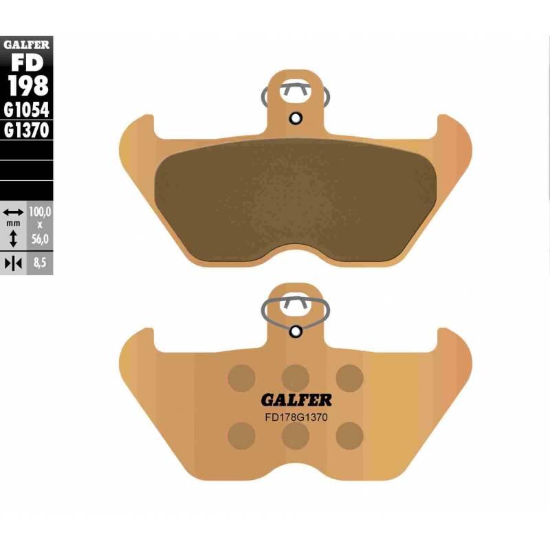 PASTILLAS FRENO GALFER FD198-G1370 MOTO (sinterizado)