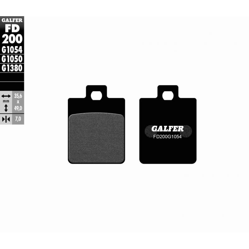 PASTILLAS FRENO GALFER FD200-G1054 (semi-metálicas)