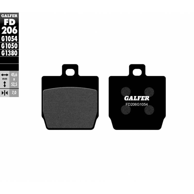 PASTILLAS FRENO GALFER FD206-G1054 (semi-metálicas)