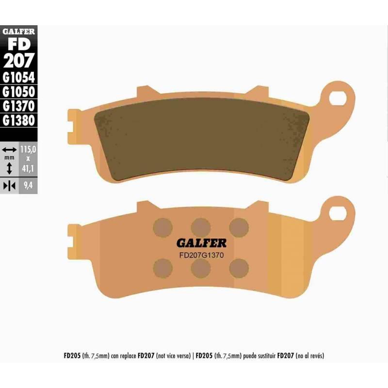 PASTILLAS FRENO GALFER FD207-G1370 MOTO (sinterizado)