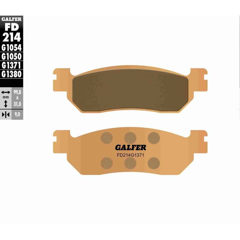 PASTILLAS FRENO GALFER FD214-G1371 MOTO (sinterizado) traseras