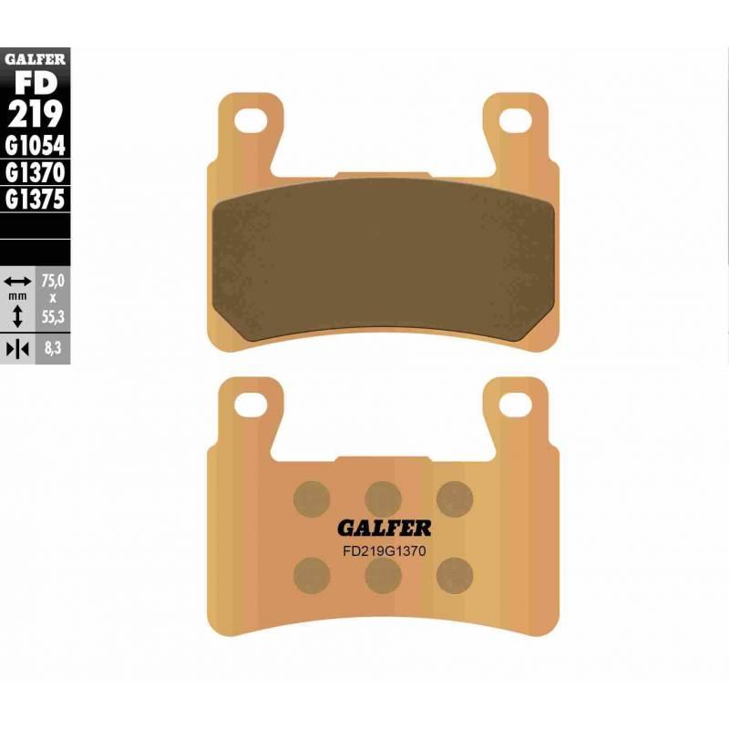 PASTILLAS FRENO GALFER FD219-G1370 MOTO (sinterizado)