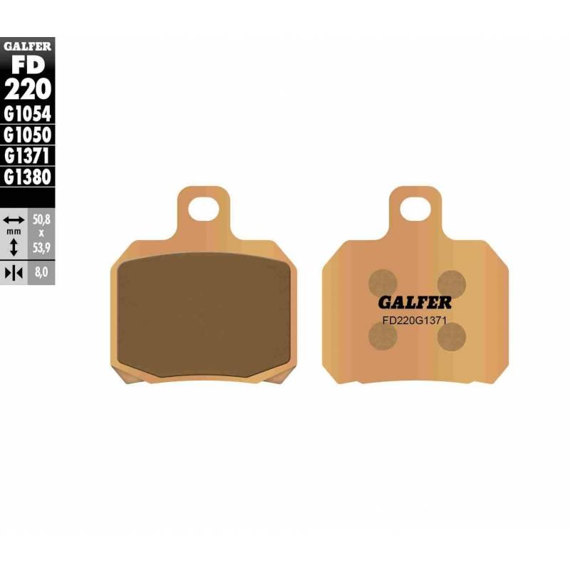 PASTILLAS FRENO GALFER FD220-G1371 MOTO (sinterizado) traseras