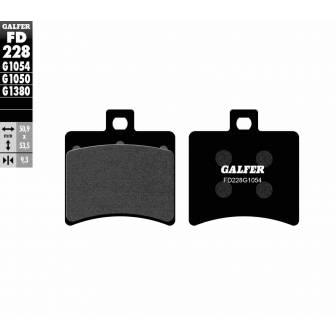 PASTILLAS FRENO GALFER FD228-G1054 (semi-metálicas)