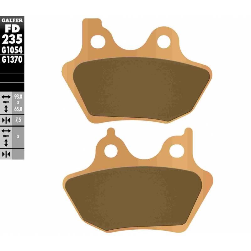 PASTILLAS FRENO GALFER FD235-G1370 MOTO (sinterizado)