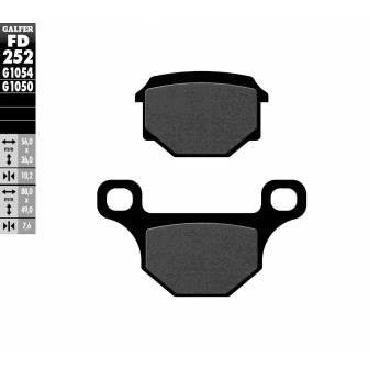 PASTILLAS FRENO GALFER FD252-G1054 (semi-metálicas)
