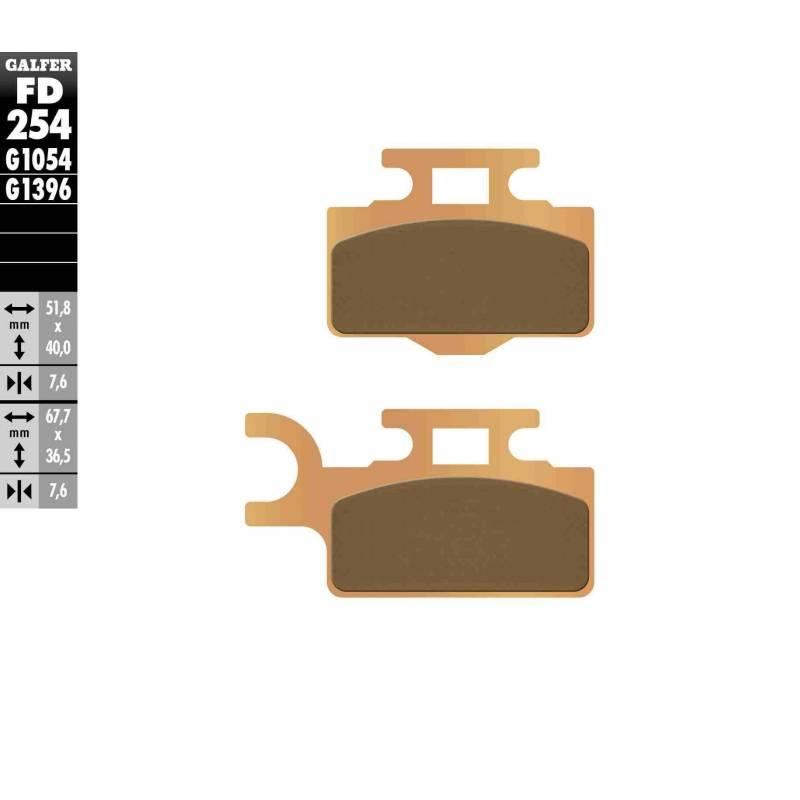 PASTILLAS FRENO GALFER FD254-G1396 OFF ROAD