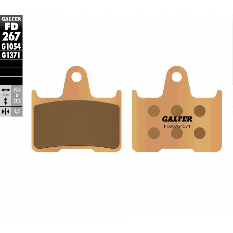 PASTILLAS FRENO GALFER FD267-G1371 MOTO (sinterizado) traseras