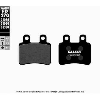 PASTILLAS FRENO GALFER FD270-G1054 (semi-metálicas)
