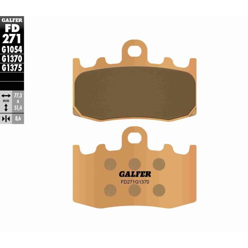 PASTILLAS FRENO GALFER FD271-G1370 MOTO (sinterizado)