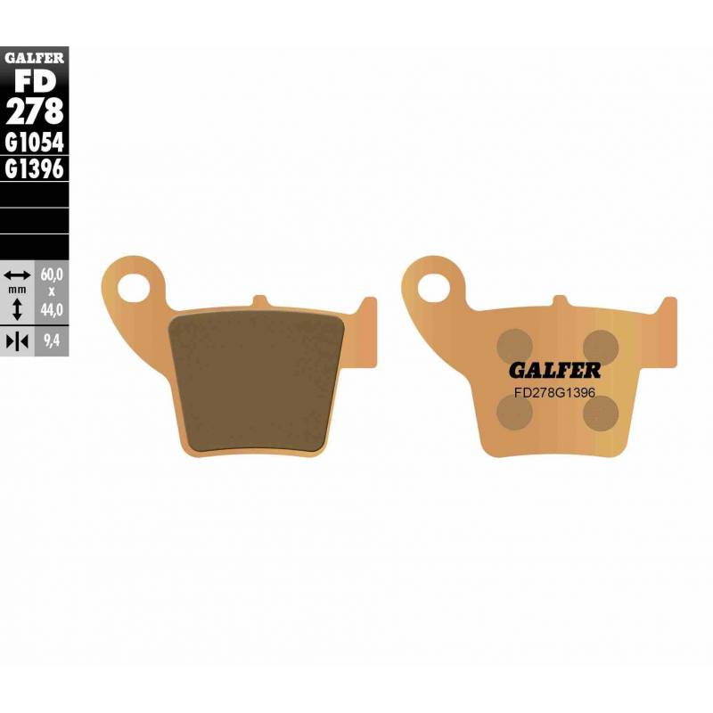 PASTILLAS FRENO GALFER FD278-G1396 OFF ROAD