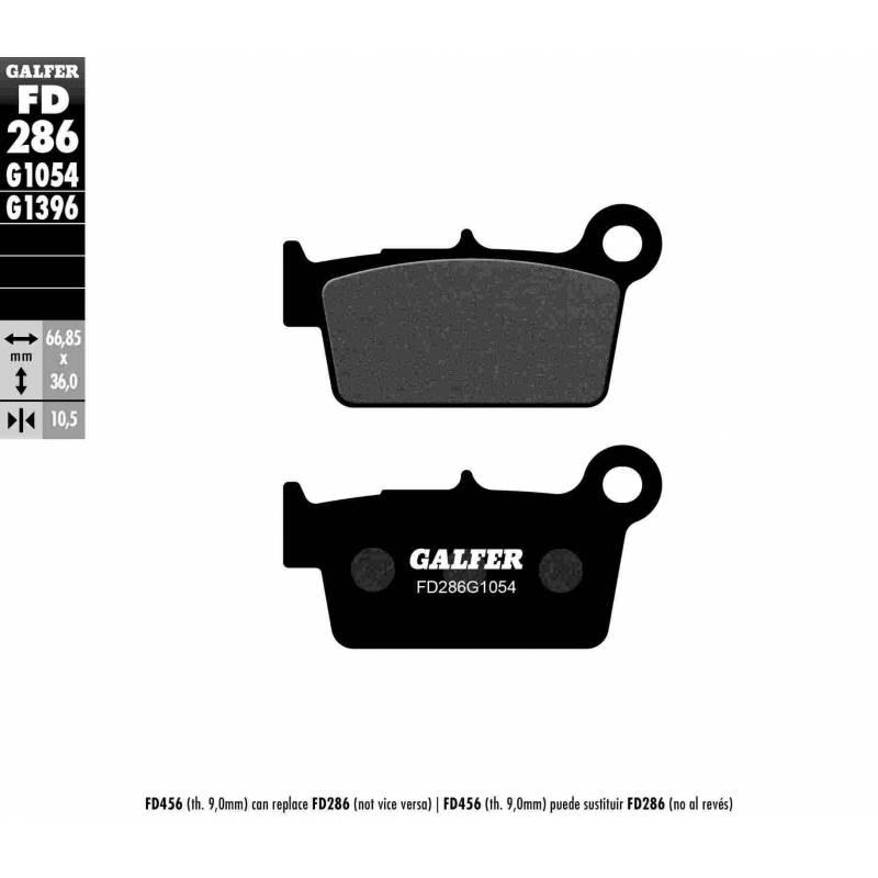 PASTILLAS FRENO GALFER FD286-G1054 (semi-metálicas)