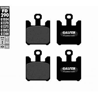 PASTILLAS FRENO GALFER FD290-G1054 (semi-metálicas)