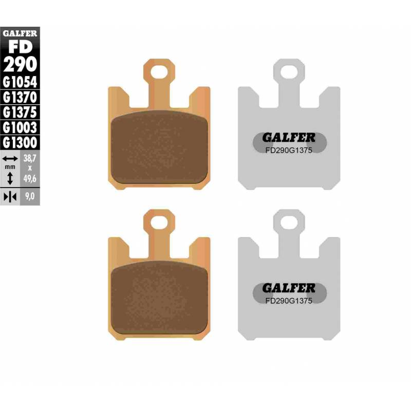 PASTILLAS FRENO GALFER FD290-G1375 MOTO (cerámico/metálico)