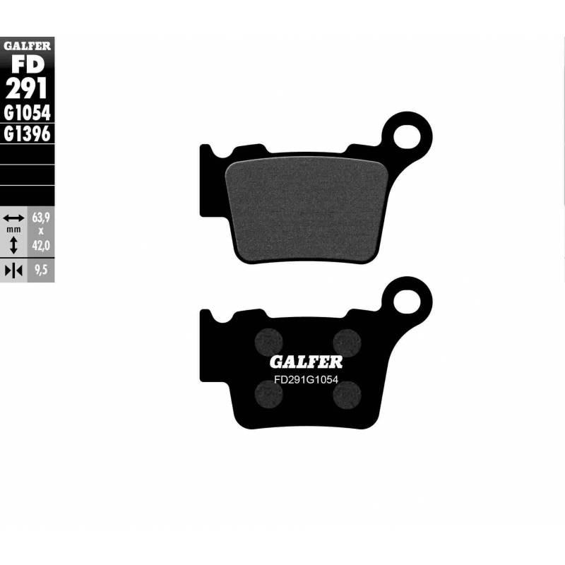 PASTILLAS FRENO GALFER FD291-G1054 (semi-metálicas)