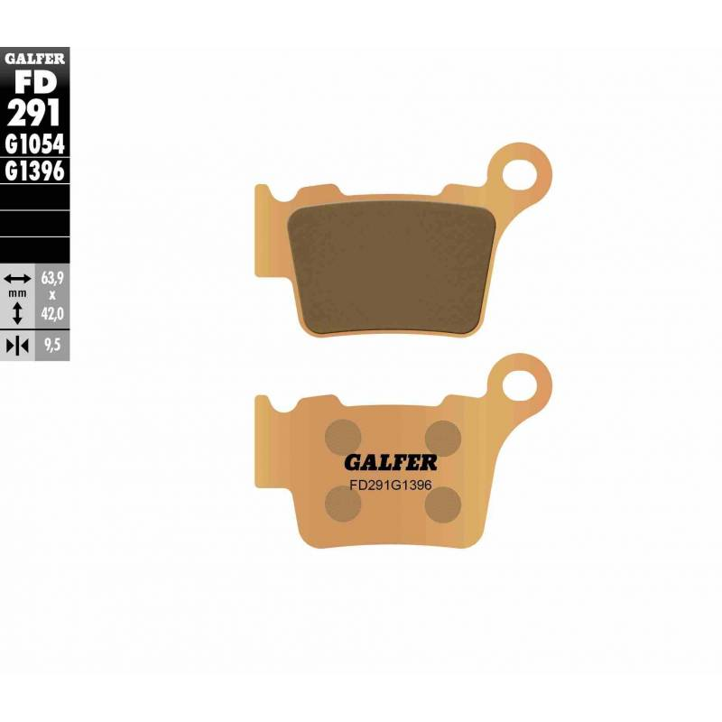 PASTILLAS FRENO GALFER FD291-G1396 OFF ROAD