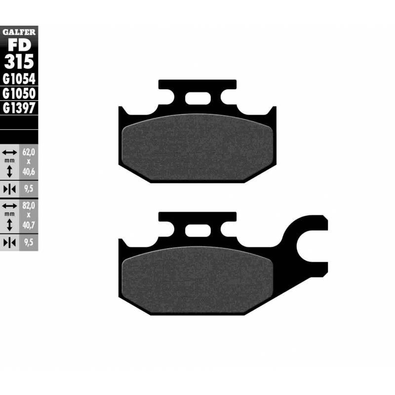 PASTILLAS FRENO GALFER FD315-G1054 (semi-metálicas)
