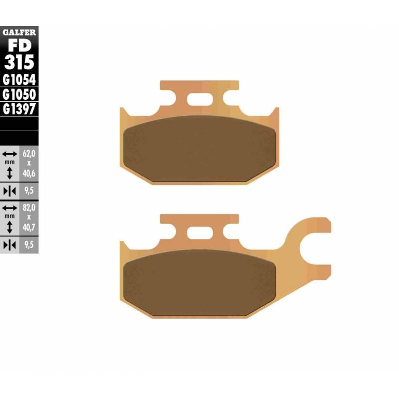 PASTILLAS FRENO GALFER FD315-G1397 OFF ROAD (Quads/ATV)