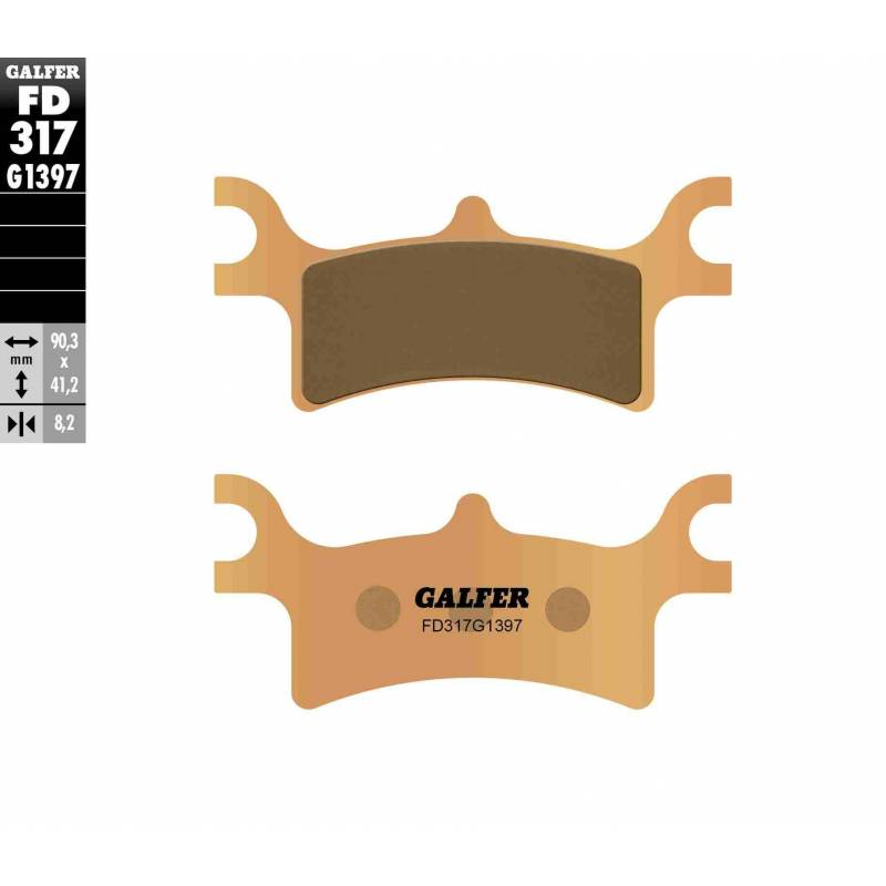 PASTILLAS FRENO GALFER FD317-G1397 OFF ROAD (Quads/ATV)