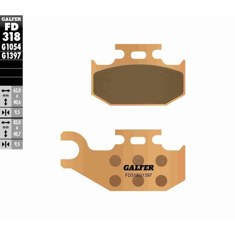 PASTILLAS FRENO GALFER FD318-G1397 OFF ROAD (Quads/ATV)
