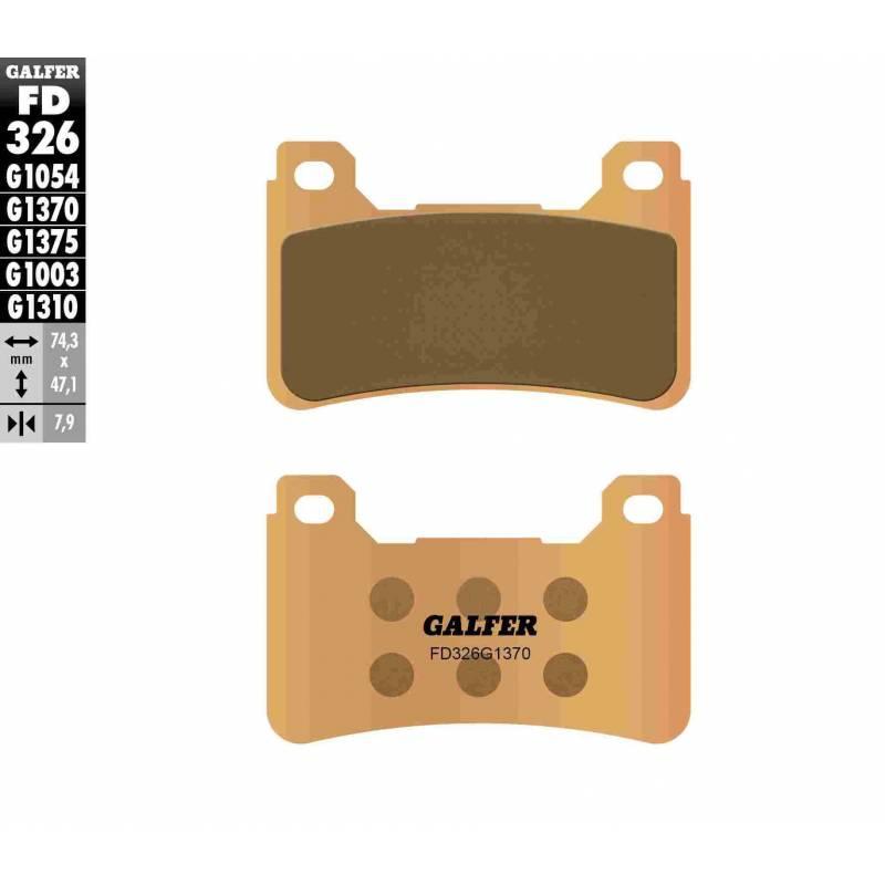 PASTILLAS FRENO GALFER FD326-G1370 MOTO (sinterizado)