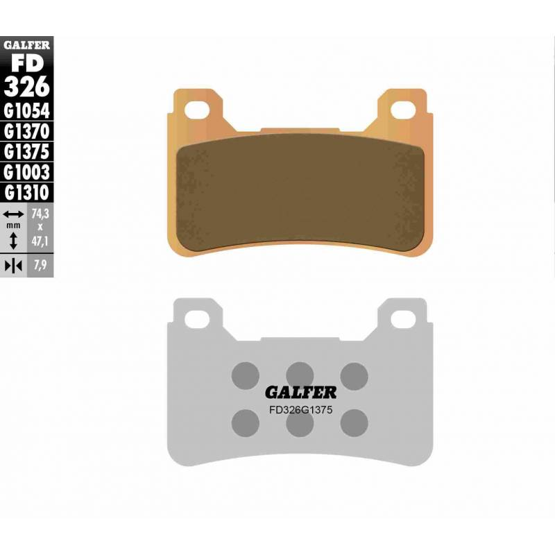 PASTILLAS FRENO GALFER FD326-G1375 MOTO (cerámico/metálico)