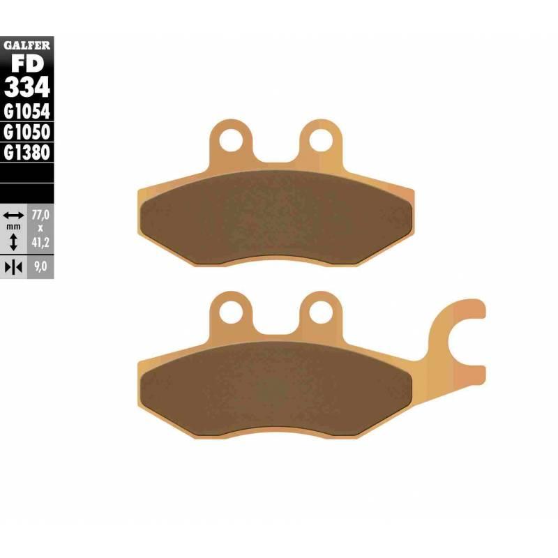 PASTILLAS FRENO GALFER FD334-G1380 MOTO (sinterizado)