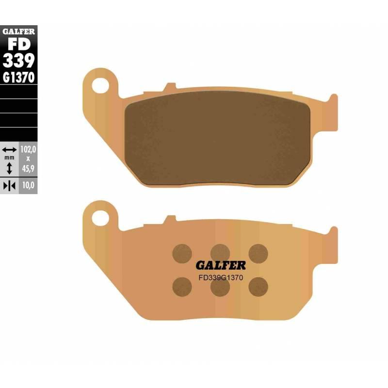 PASTILLAS FRENO GALFER FD339-G1370 MOTO (sinterizado)