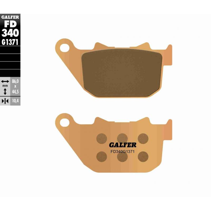 PASTILLAS FRENO GALFER FD340-G1371 MOTO (sinterizado) traseras