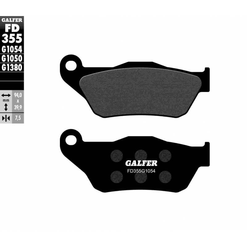 PASTILLAS FRENO GALFER FD355-G1054 (semi-metálicas)