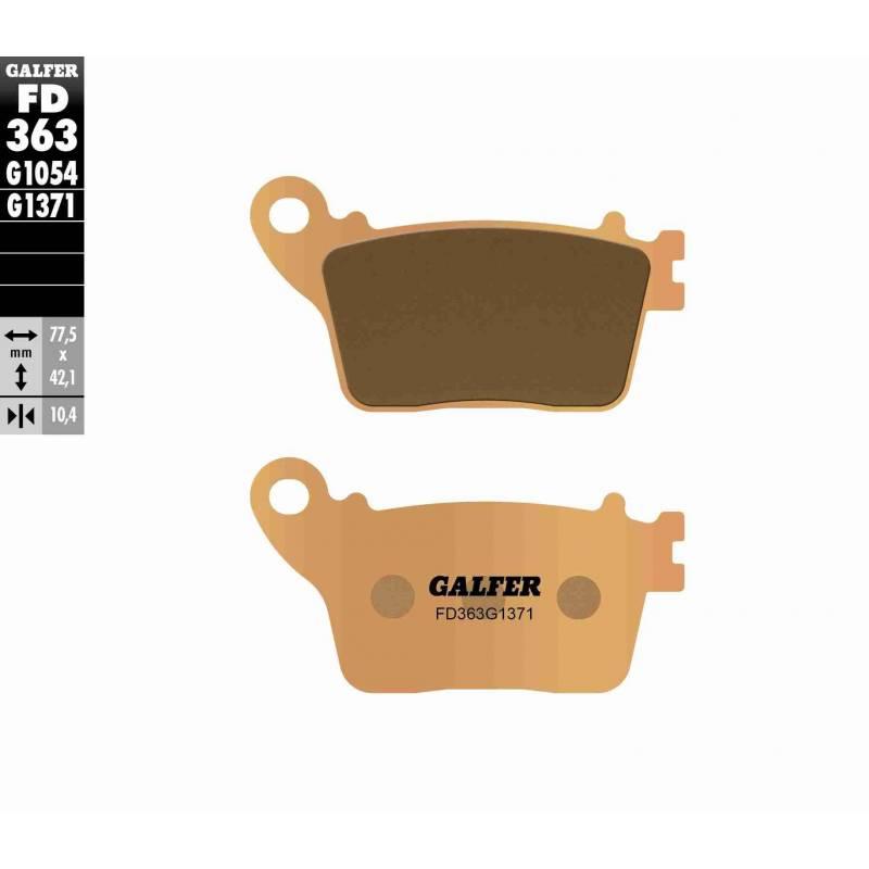 PASTILLAS FRENO GALFER FD363-G1371 MOTO (sinterizado) traseras