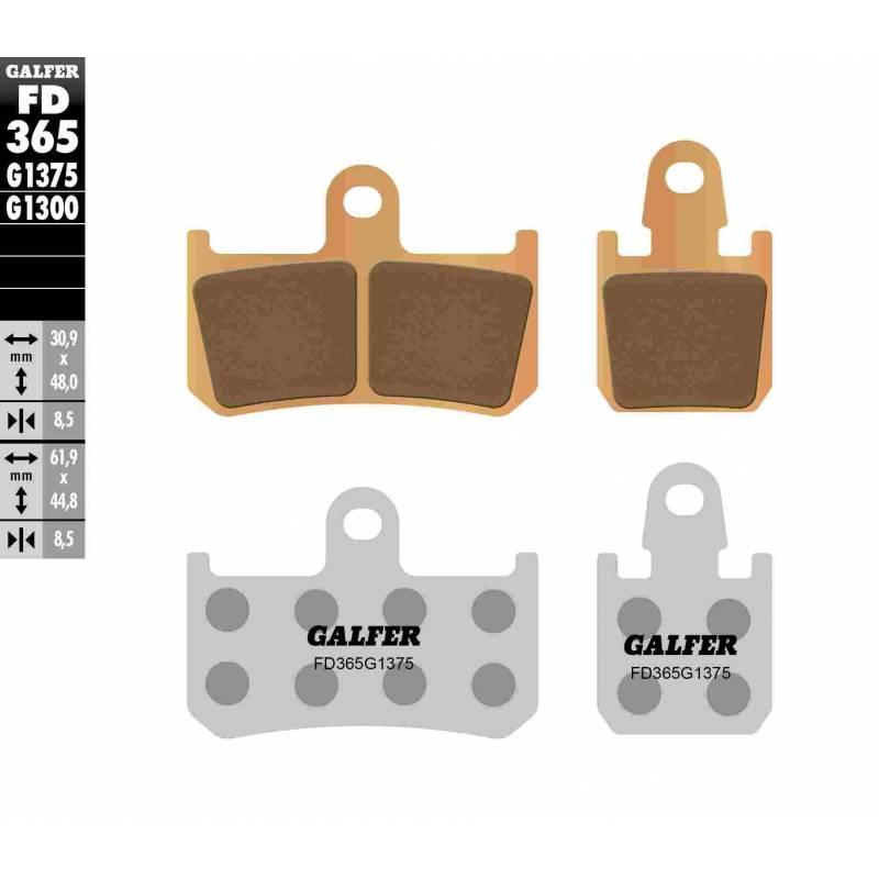 PASTILLAS FRENO GALFER FD365-G1375 MOTO (cerámico/metálico)