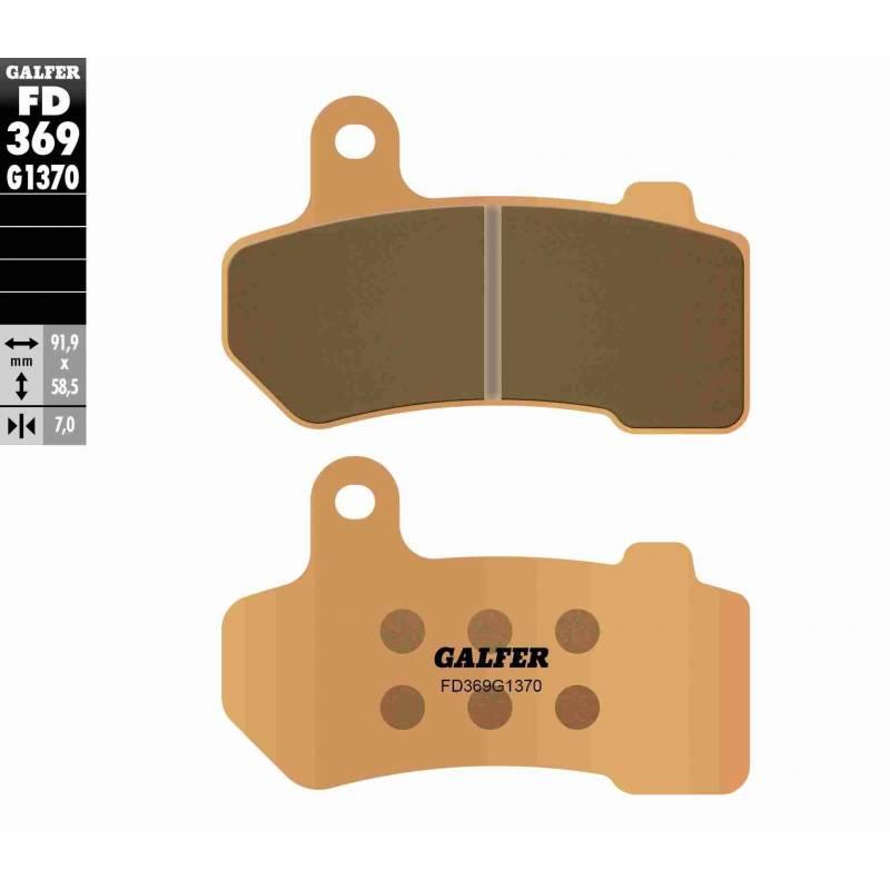 PASTILLAS FRENO GALFER FD369-G1370 MOTO (sinterizado)
