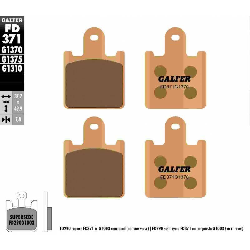 PASTILLAS FRENO GALFER FD371-G1370 MOTO (sinterizado)