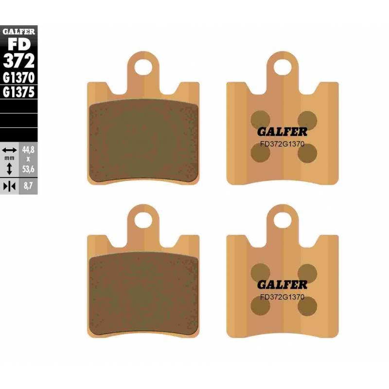 PASTILLAS FRENO GALFER FD372-G1370 MOTO (sinterizado)