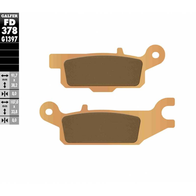 PASTILLAS FRENO GALFER FD378-G1397 OFF ROAD (Quads/ATV)