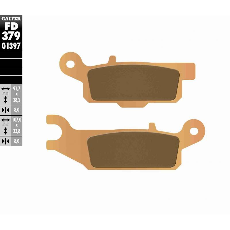 PASTILLAS FRENO GALFER FD379-G1397 OFF ROAD (Quads/ATV)