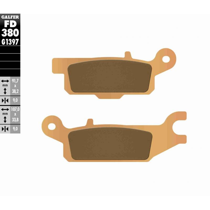 PASTILLAS FRENO GALFER FD380-G1397 OFF ROAD (Quads/ATV)