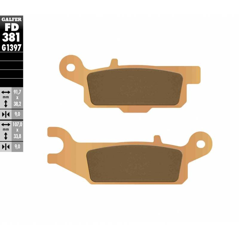 PASTILLAS FRENO GALFER FD381-G1397 OFF ROAD (Quads/ATV)