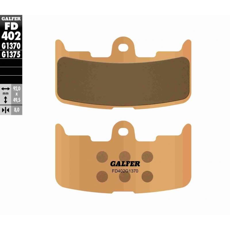 PASTILLAS FRENO GALFER FD402-G1370 MOTO (sinterizado)