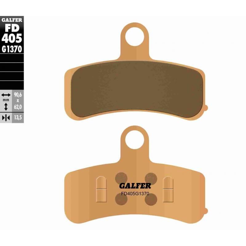 PASTILLAS FRENO GALFER FD405-G1370 MOTO (sinterizado)