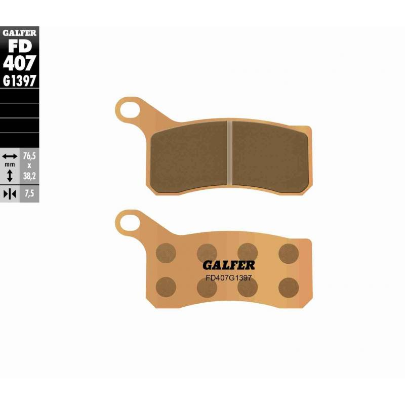 PASTILLAS FRENO GALFER FD407-G1397 OFF ROAD (Quads/ATV)