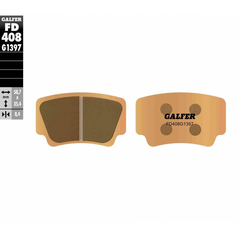 PASTILLAS FRENO GALFER FD408-G1397 OFF ROAD (Quads/ATV)
