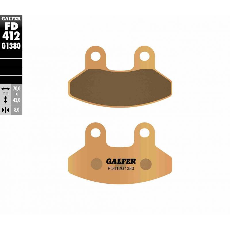 PASTILLAS FRENO GALFER FD412-G1380 MOTO (cerámico/metálico)