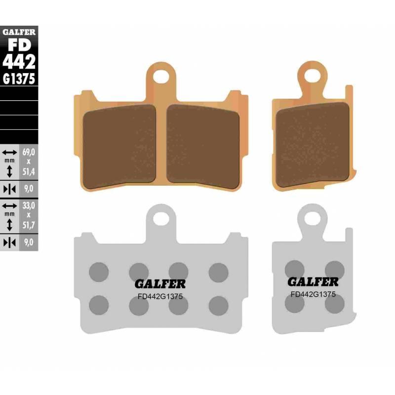 PASTILLAS FRENO GALFER FD442-G1375 MOTO (cerámico/metálico)