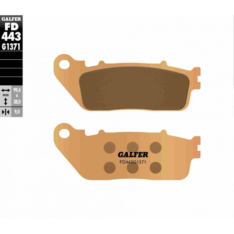 PASTILLAS FRENO GALFER FD443-G1371 MOTO (sinterizado) traseras