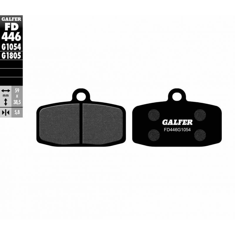 PASTILLAS FRENO GALFER FD446-G1054 (semi-metálicas)