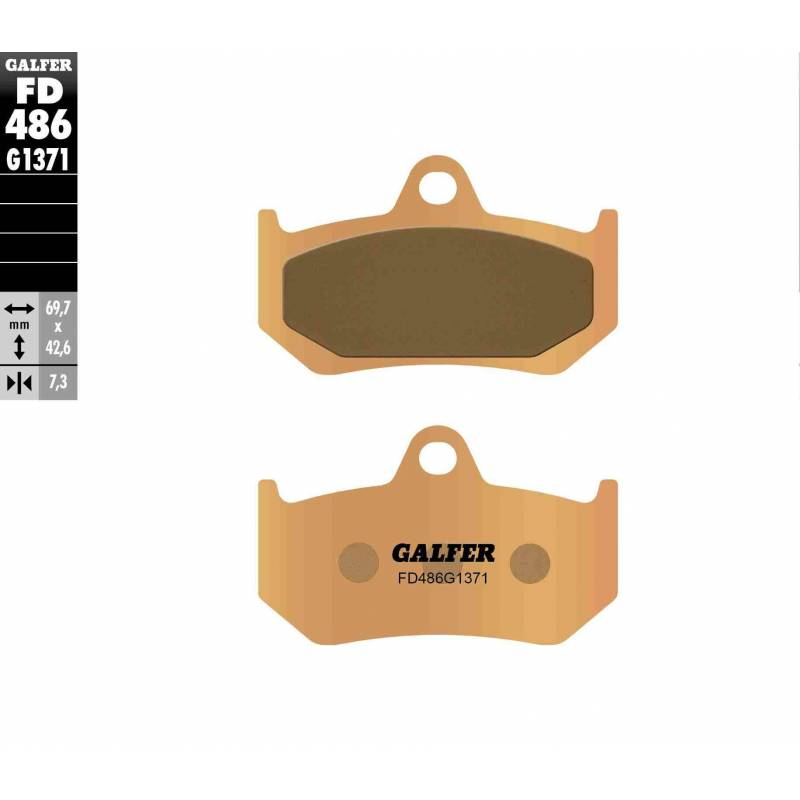PASTILLAS FRENO GALFER FD486-G1371 (sinterizado) traseras