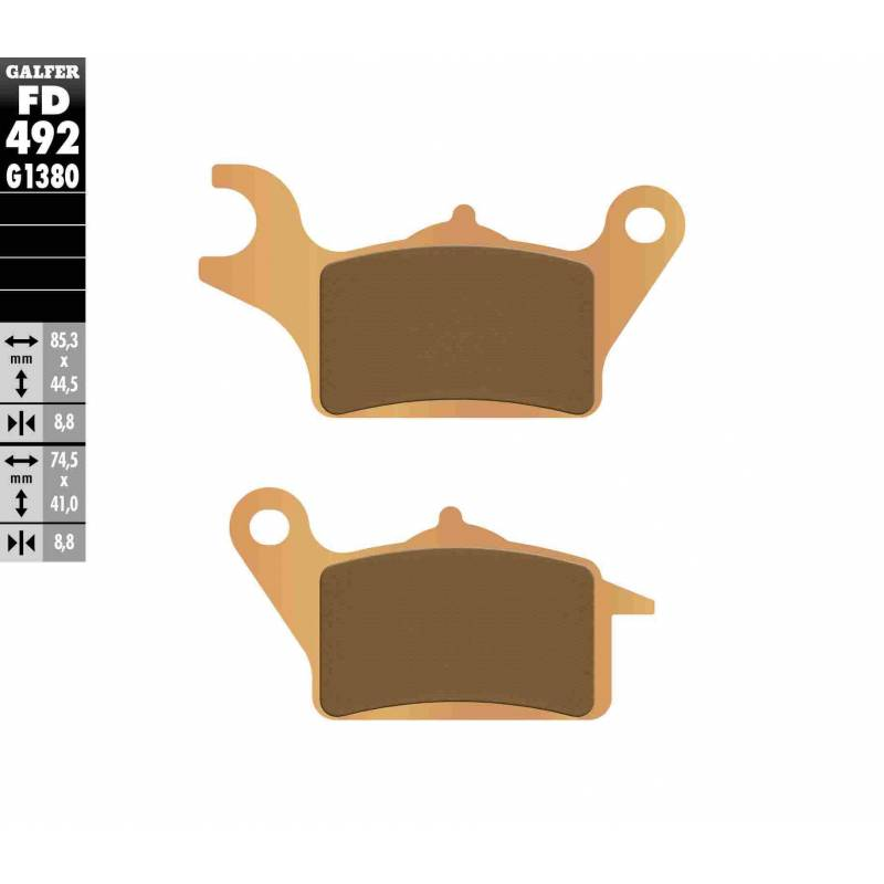 PASTILLAS FRENO GALFER FD492-G1380 MOTO (cerámico/metálico)