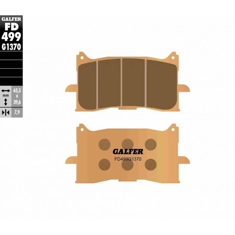 PASTILLAS FRENO GALFER FD499-G1370 MOTO (sinterizado)